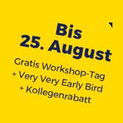 Gratis Workshop-Tag bis 25. August